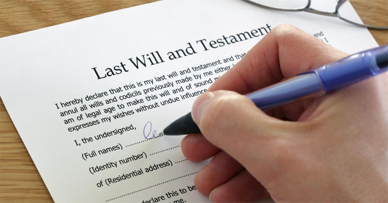 Making a will document