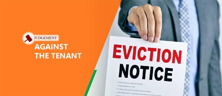 Judgement against the tenant