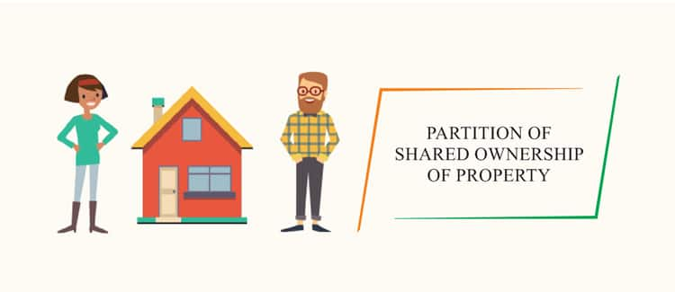 Partition of shared ownership of property in India