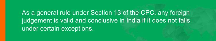 Judgement under Section 13 of the CPC