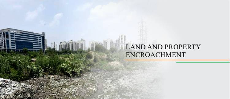 Land and property encroachment India