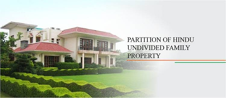 partition of property in hindu undivided family