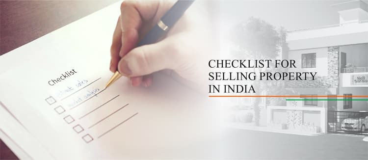 Checklist for selling property in India