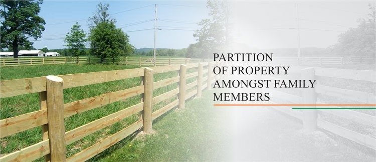 Partition of Property Amongst Family Members