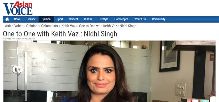 One to One with Keith Vaz- Nidhi Singh