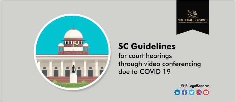 SC guidelines for court hearings through video conferencing due to COVID 19