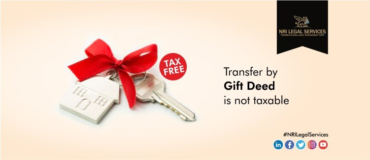 Transfer by Gift deed is not taxable