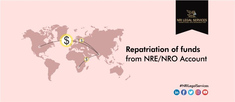 Repatriation of funds from NRE or NRO Account